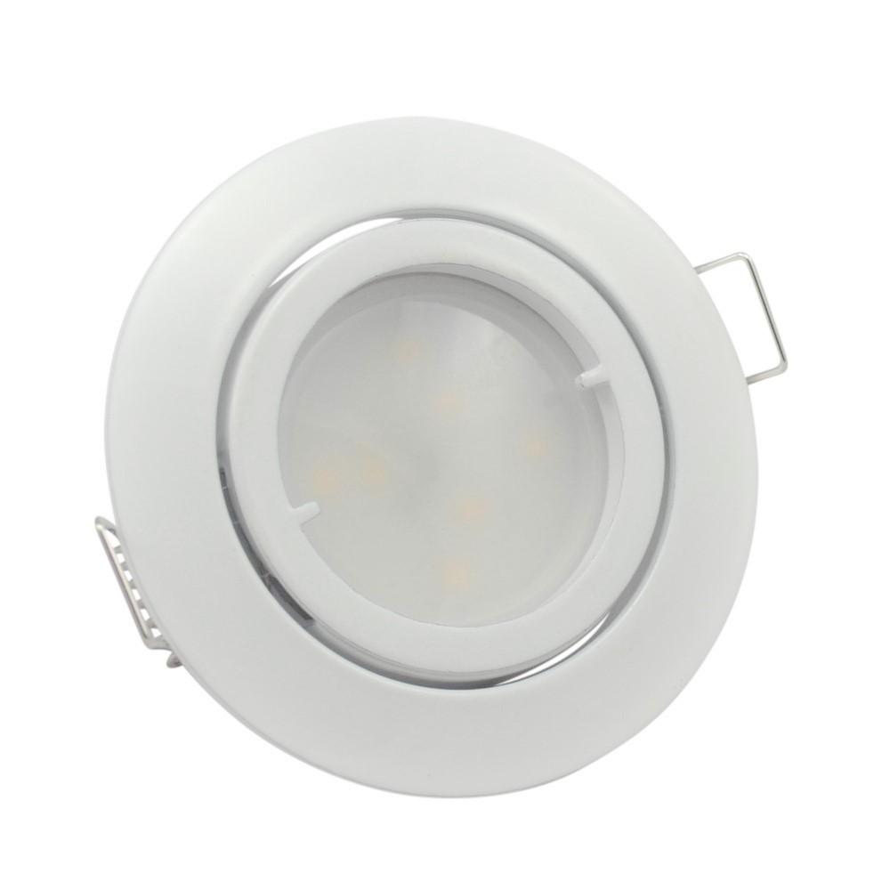 led decken einbaustrahler wei set 35mm flach einbau lampen 230v 5w dimmbar spot ebay. Black Bedroom Furniture Sets. Home Design Ideas